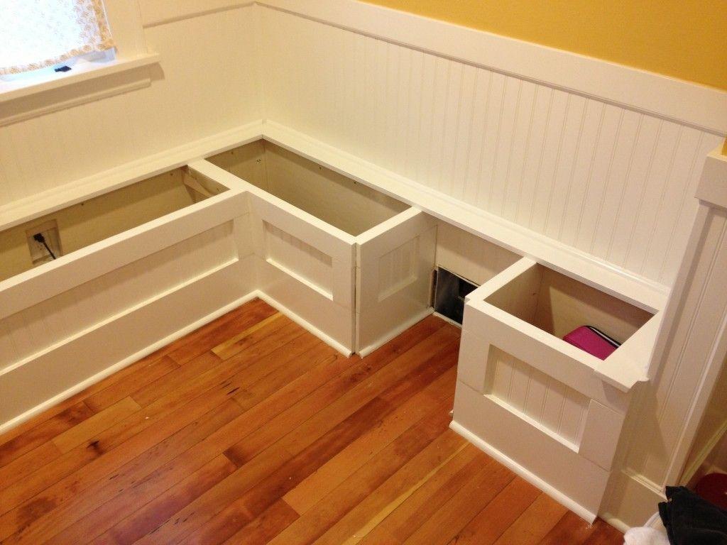How To Build Breakfast Nook Bench Kitchen Nook Storage Benches