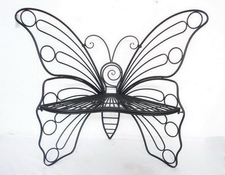 Metal Garden Butterfly Chair
