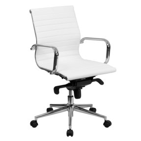 office chair images. Mid-Back Leather Office Chair Images C