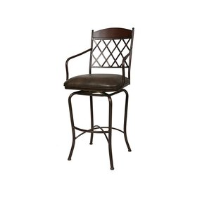 "Napa Ridge 30"" Swivel Bar Stool with Cushion"