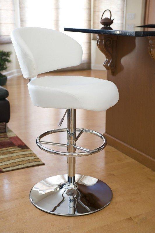 Regent Adjustable Height Swivel Bar Stool With Cushion