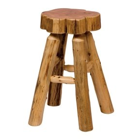"Traditional Cedar Log 24"" Bar Stool (Set of 2)"