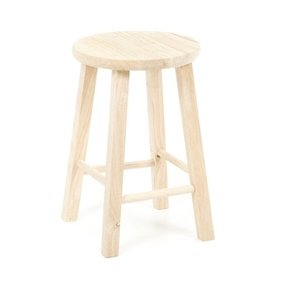 "Unfinished Wood 18"" Bar Stool"