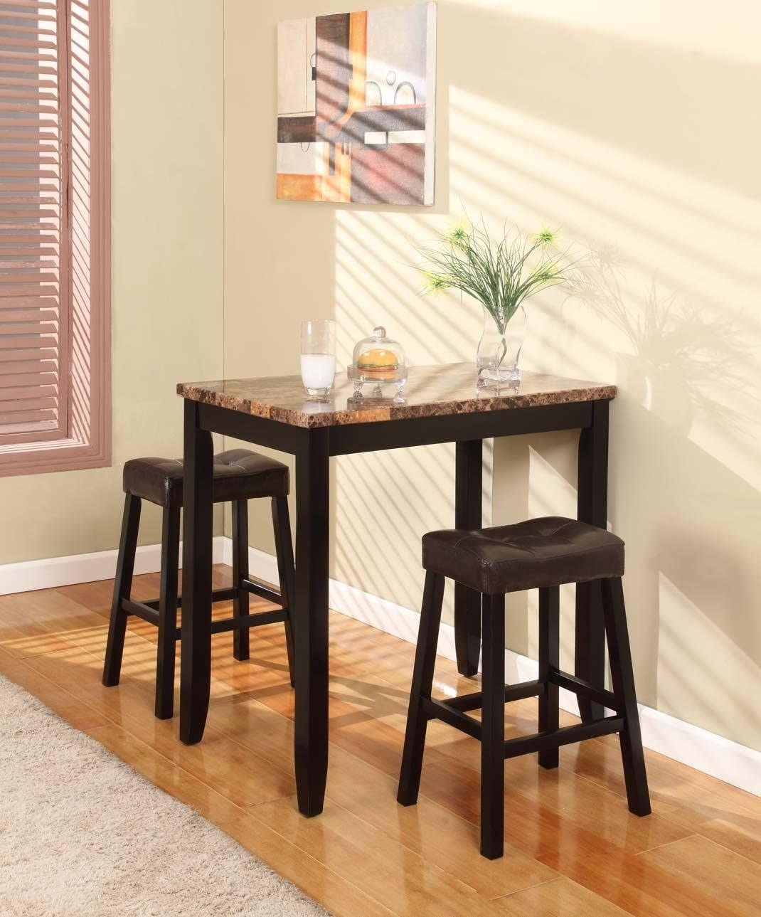 3 Piece Counter Height Pub Table Set : pub bar table set - pezcame.com