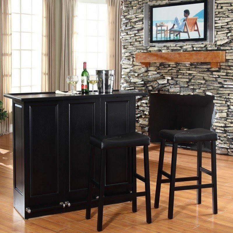 Exceptional Bar Set With Wine Storage