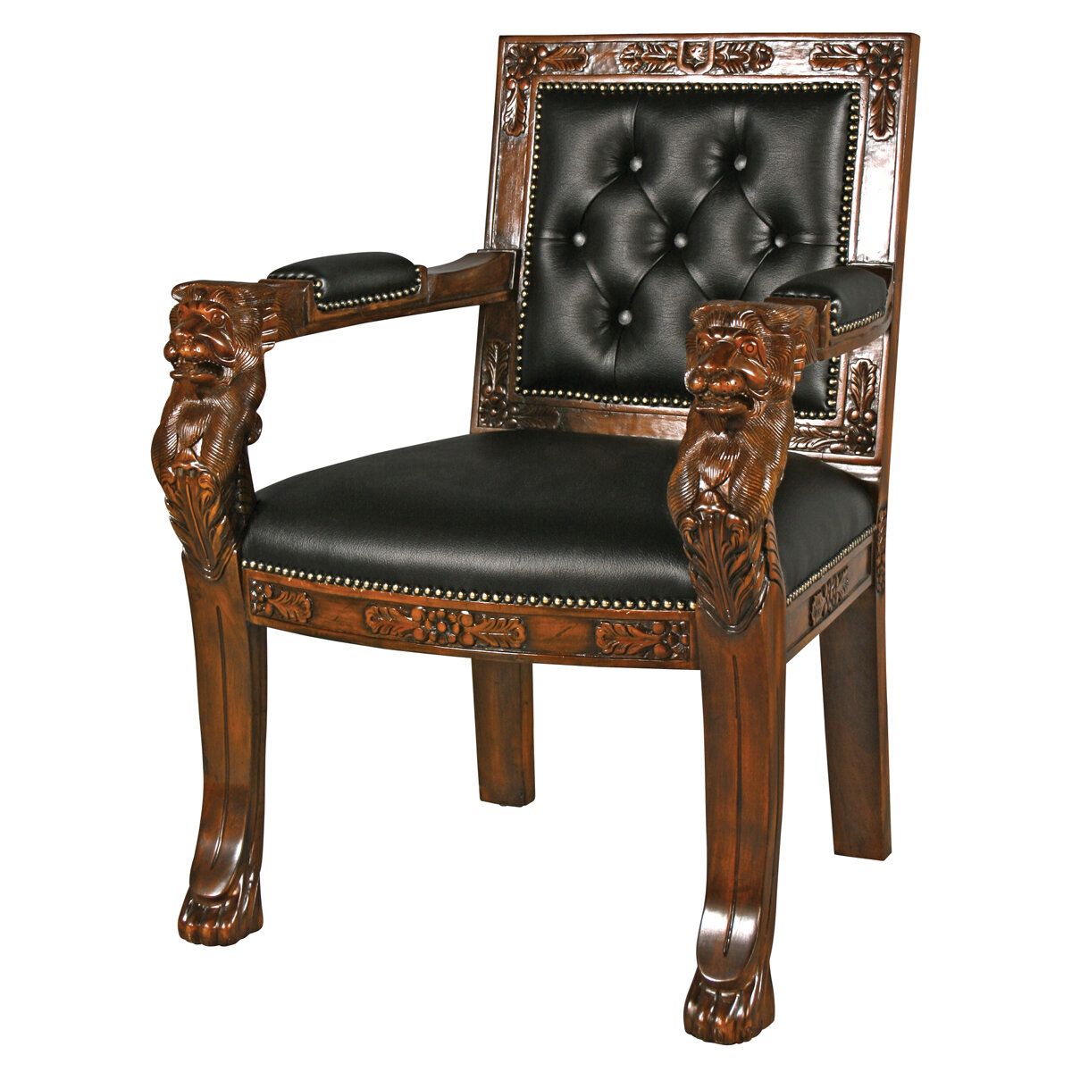 - Lion Arm Chairs - Foter
