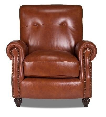Incroyable Benjamin Leather Press Back Arm Chair