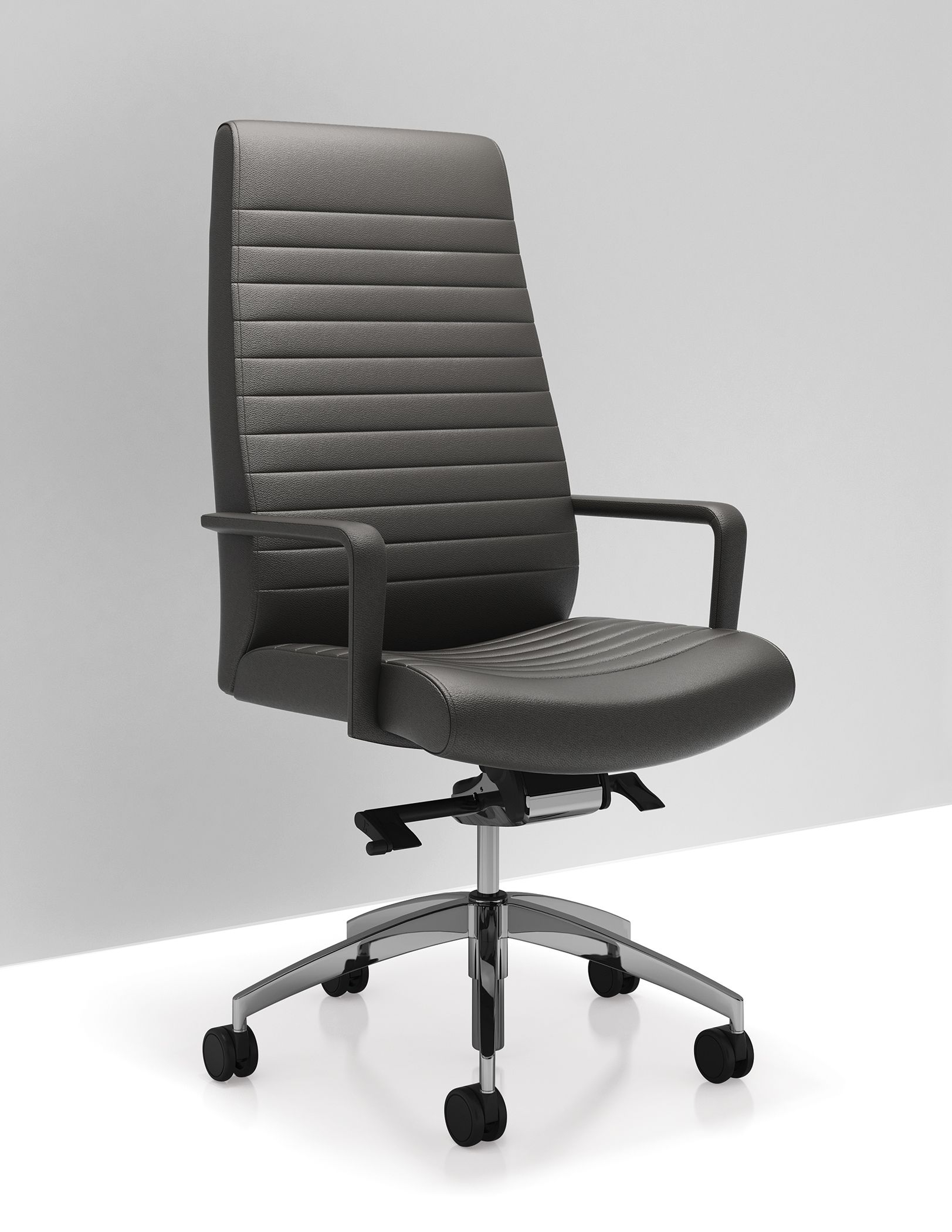 Great C5 High Back Leather Executive And Conference Room Chair