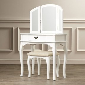 Edgar 3 Piece Vanity Set with Mirror