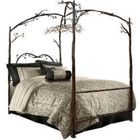 Enchanted Forest Queen Canopy Bed