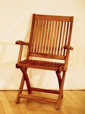 Outdoor Wood Folding Arm Chair - Foter