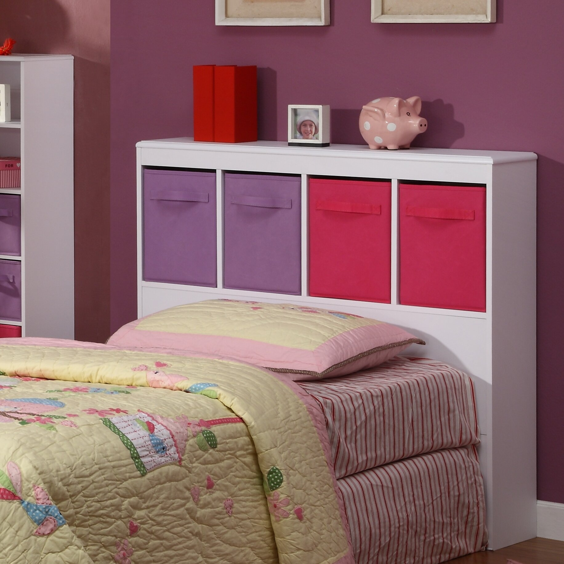 Girl's Twin Bookcase Headboard