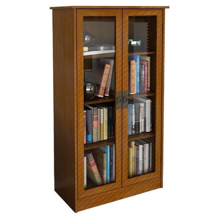 Charming Glass Door Bookcase