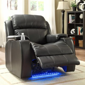 Jimmy Power with Massage, LED and Cup Holder Recliner