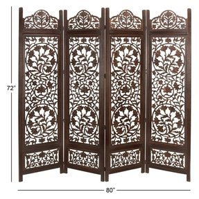 Metro Wood Screen 4 Panel Room Divider