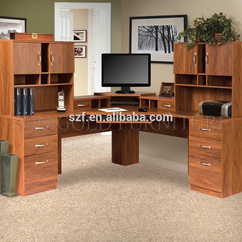 Classic L Shaped Computer Desk Design