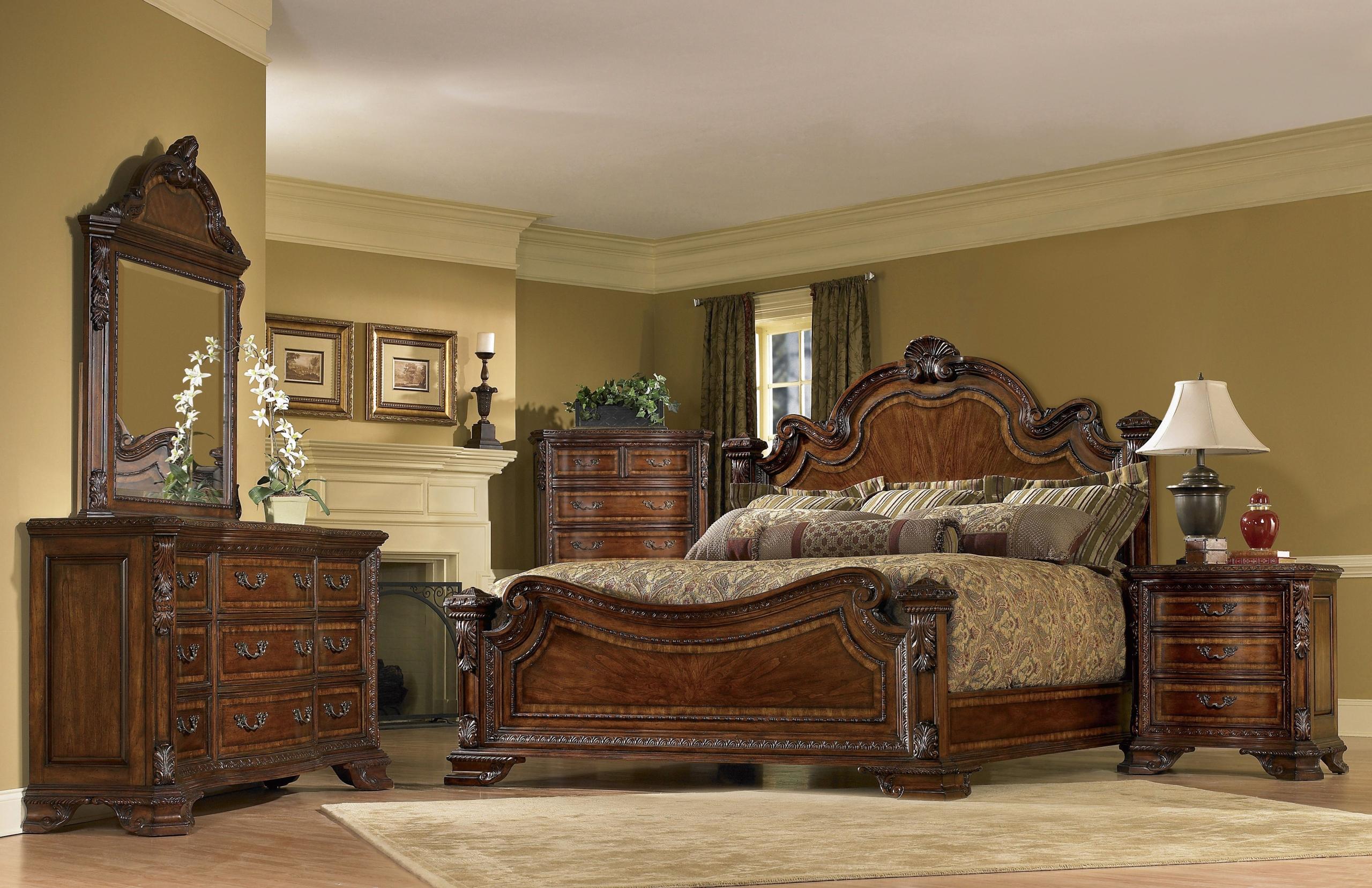 Attractive Old World Panel Customizable Bedroom Set