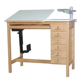 Smi ct6 oak drafting computer table