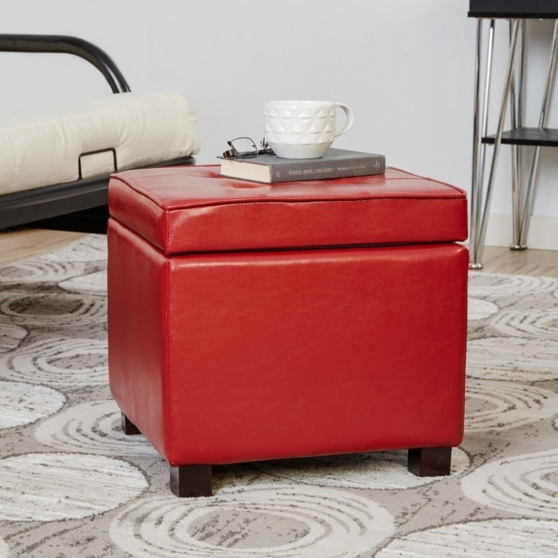 Charmant Storage Ottoman It Is A Very Practical Ottoman, Which Is Perfect For Many  Different Interiors. It Has A Red Color, Which Means That Animates The Room.