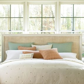 Summer Hill Wood and Wicker Panel Headboard