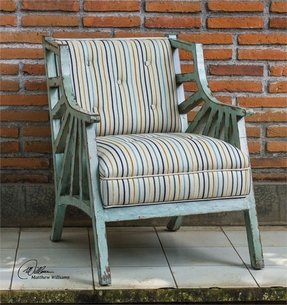 Surata Exposed Wood Accent Arm Chair