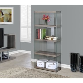 "Tempered Glass 60"" Bookcase"