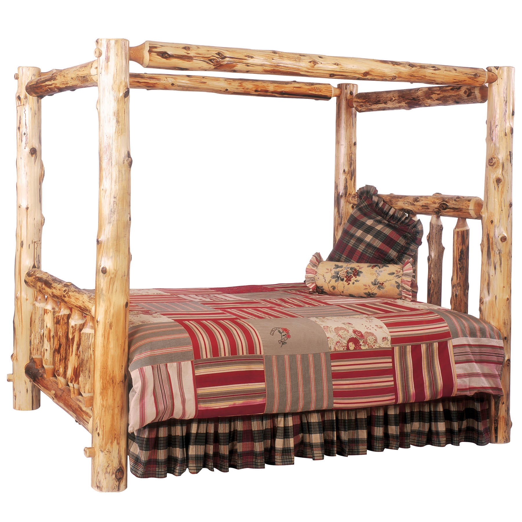 Traditional Cedar Log Panel Customizable Bedroom Set