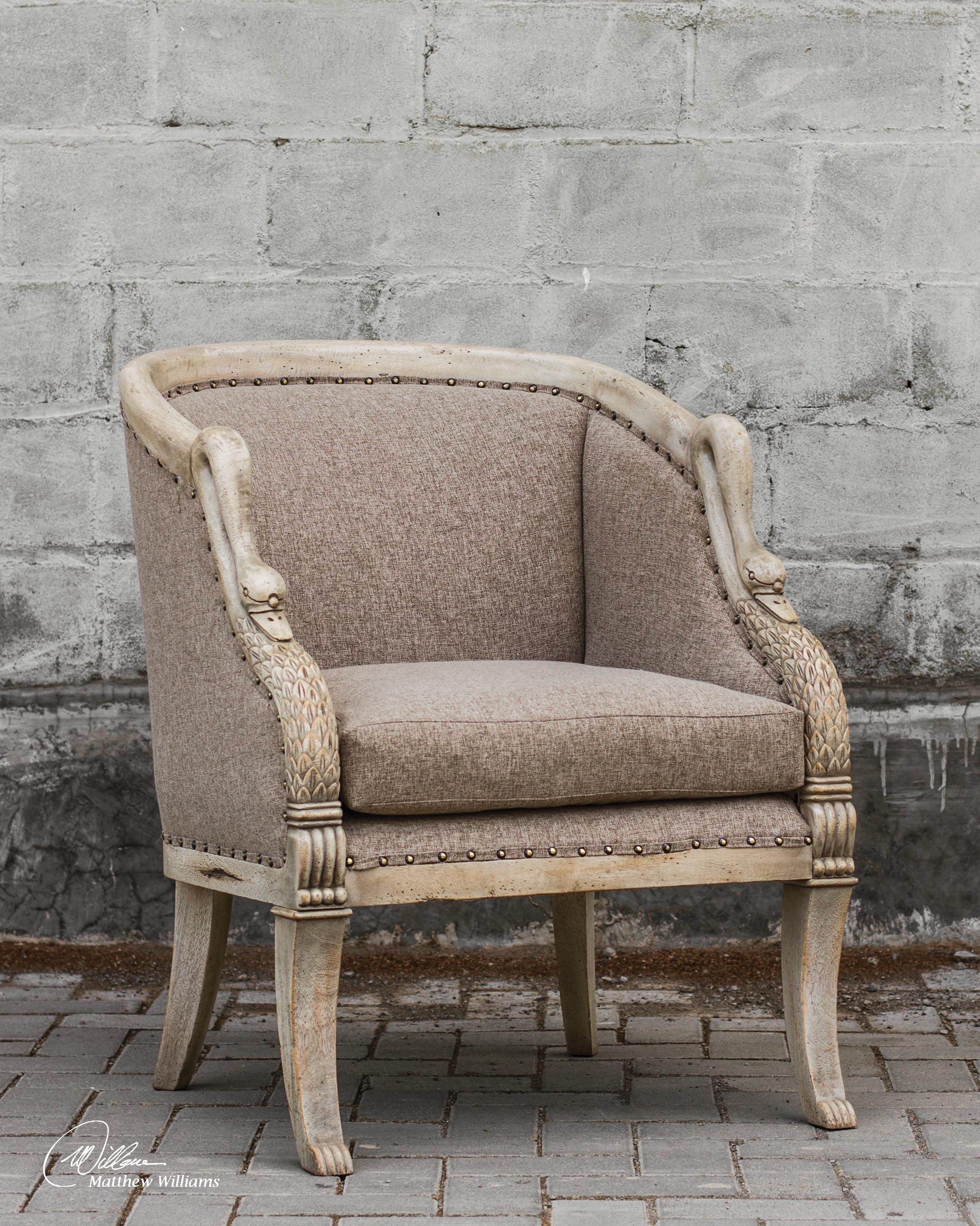 Uttermost Swaun Hand Carved Arm Chair