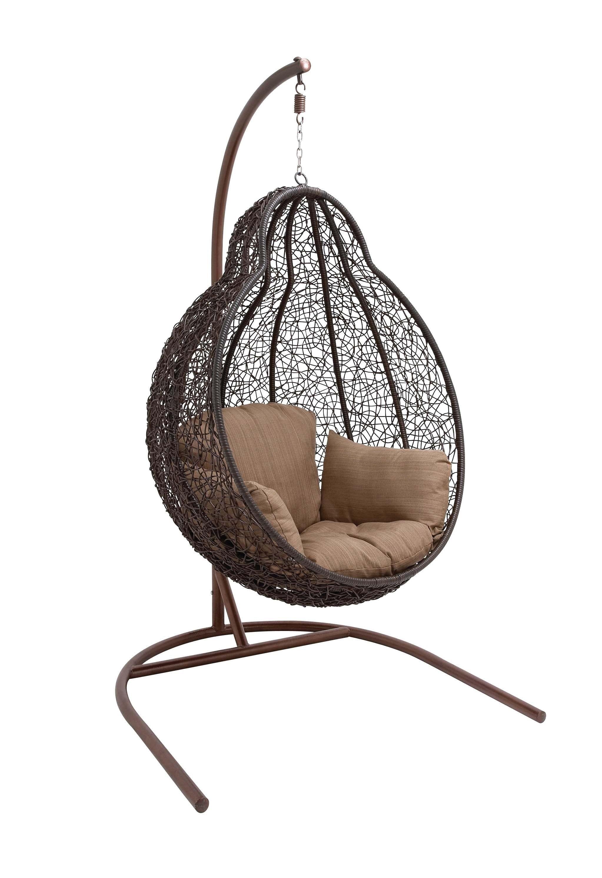 Delightful Wicker Pod Swing Chair