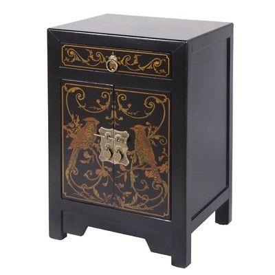 Merveilleux Antique Asian End Table