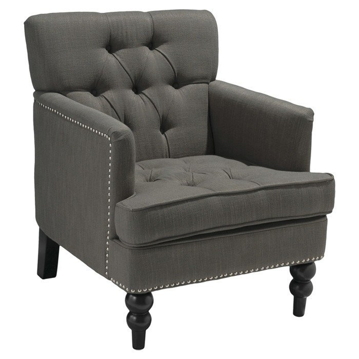 Karl Tufted Upholstered Club Arm Chair