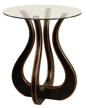 """Luxe"" Glass Top End Table"