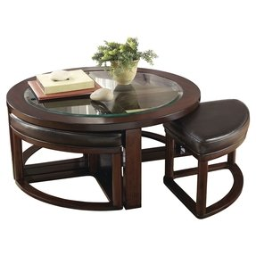 Machias 5 Piece Coffee Table & Stool Set