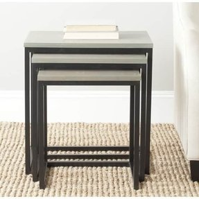 Safavieh American Home Collection Kaleb French Grey Nesting Tables