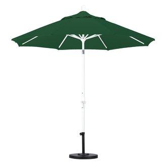 d8e6b2ddd814 California Umbrella 9-Feet Olefin Fabric Aluminum Crank Lift Collar Tilt Market  Umbrella with Bronze