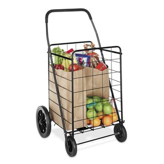 "Deluxe 40.12"" Rolling Shopping Cart"