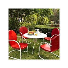 Griffith Metal 5 Piece Outdoor Dining Set