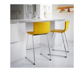 Ikea bernhard bar stool with backrest you sit comfortably thanks