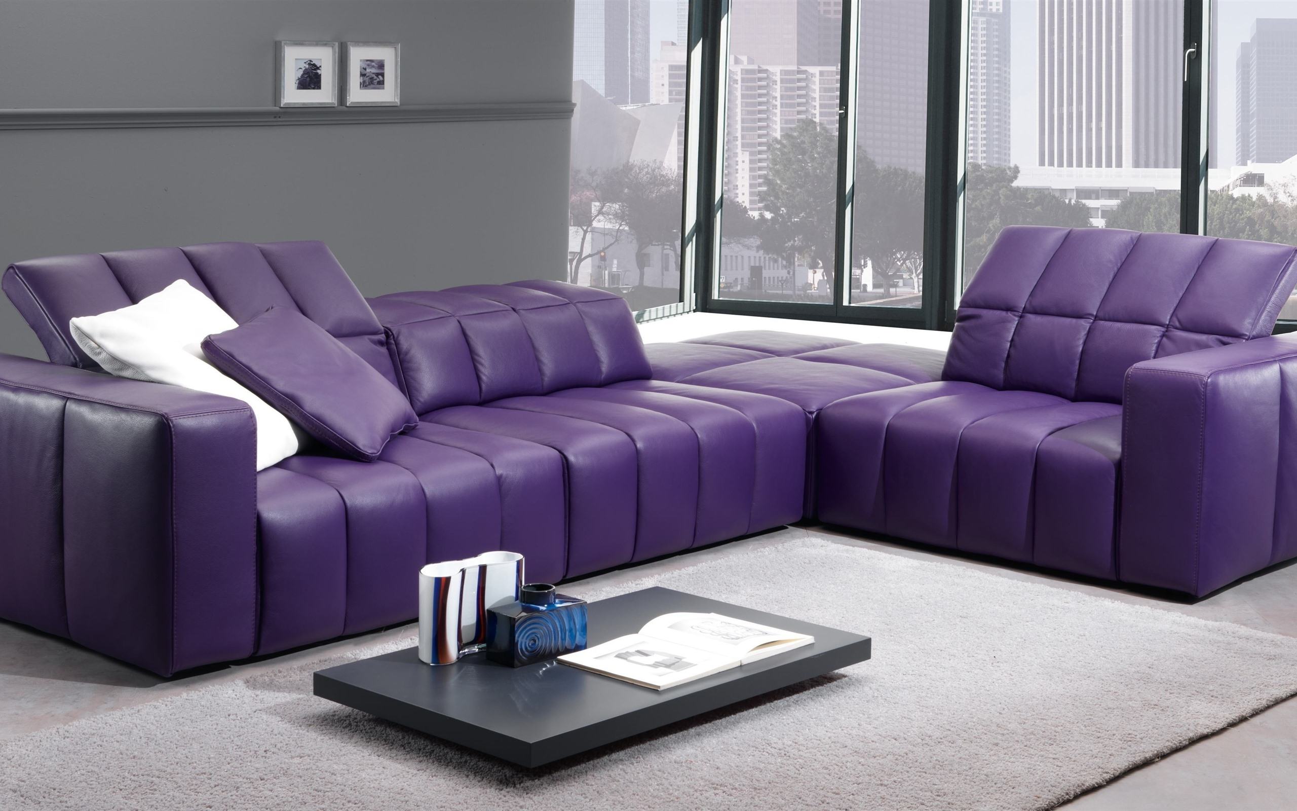 Superieur Purple Living Room Furniture