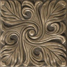 Renaissance 4 X Bari Accent Tile In Antique Bronze