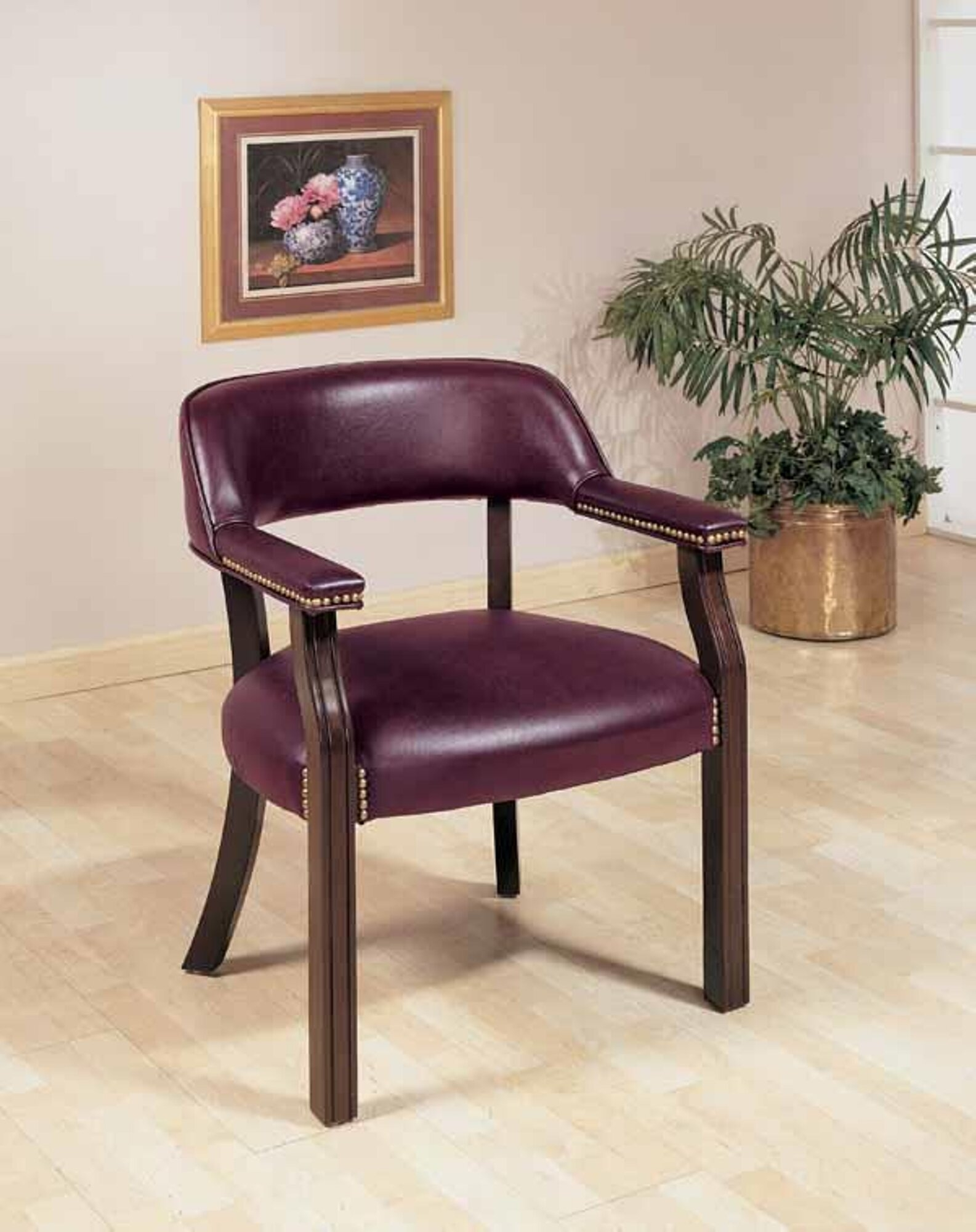 Upholstered Vinyl Arm Chair
