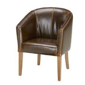 Remarkable Leather Tub Chairs Ideas On Foter Creativecarmelina Interior Chair Design Creativecarmelinacom