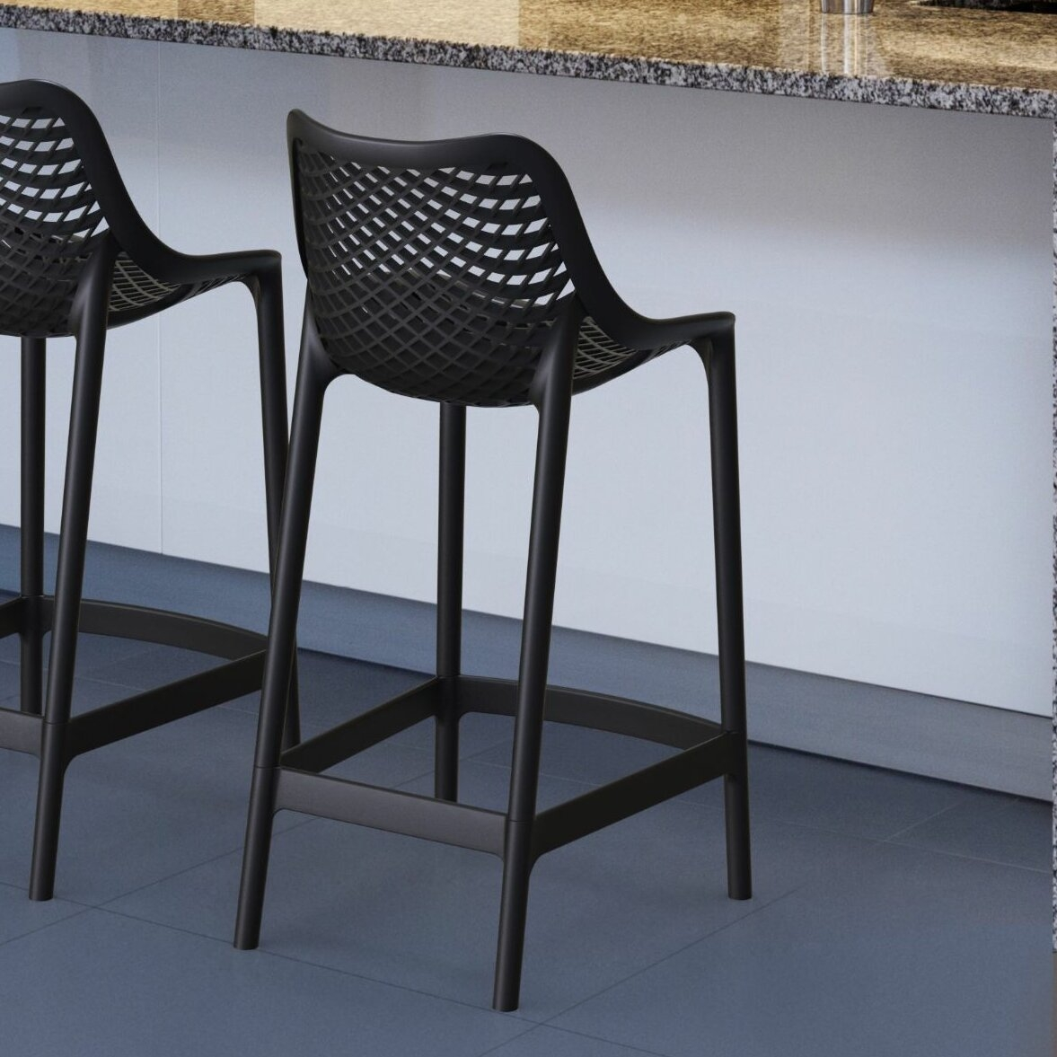 Exceptionnel Modern Outdoor Outdoor Bar Stool   Foter
