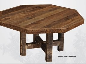 Artisan Barnwood Octagon Dining Table