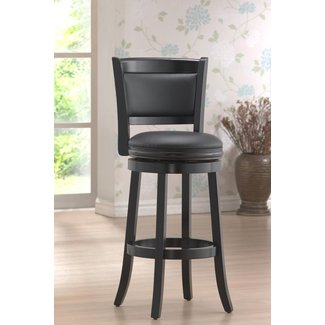 "Augusta 29"" Swivel Bar Stool with Cushion"