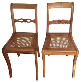 Biedermeier dining arm chairs 10