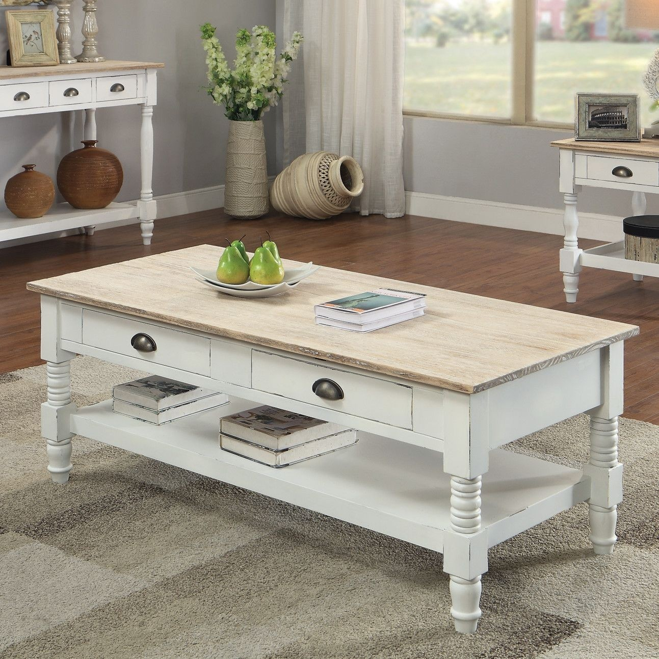 Superbe French Country Coffee Tables   Ideas On Foter