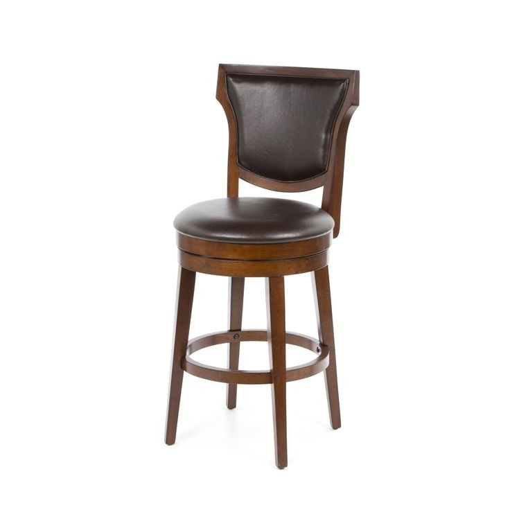 "Country Heights 31"" Swivel Bar Stool with Cushion"