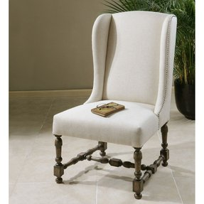 Diella Alabaster Wingback Chair