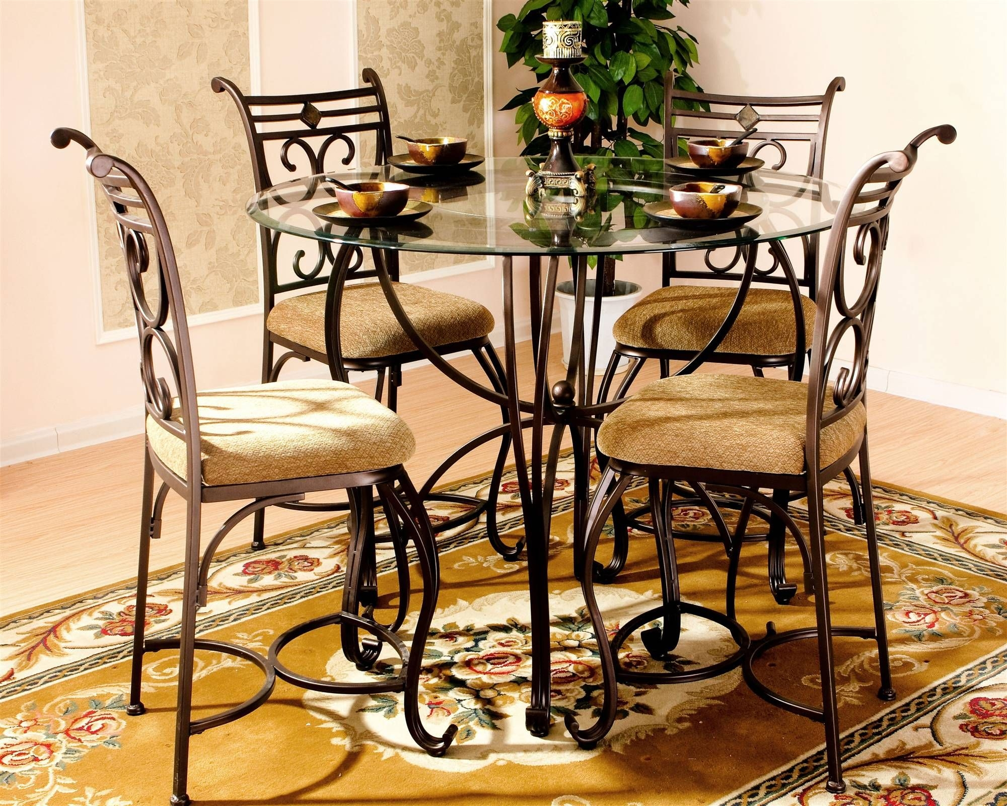 Excalibur 5 Piece Counter Height Dinette Set
